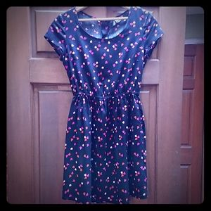 Divided by H&M Rayon Mini Dress Cute Apple Print